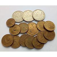 16 монет СССР, с браком гурта!!! Очень хорошее состояние!!! AU!!! Оригинал!!! Смотрите описание!!!