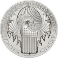 """Острова Кука 10 долларов 2017г. """"Магический Конгресс"""". Монета в капсуле; подарочном боксе; номерной сертификат. СЕРЕБРО 31,135 гр. (1 oz)."""