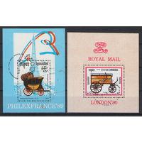 Камбоджа Почта повозки 1989-1990 год гашеные 2 блока