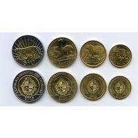 Уругвай НАБОР ФАУНА ЖИВОТНЫЕ 4 монеты 2012-2015 ПАНТЕРА БИМЕТАЛЛ UNC