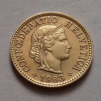 5 раппен, Швейцария 1983 г., AU