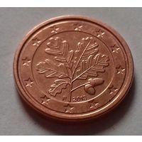 1 евроцент, Германия 2013 F, UNC
