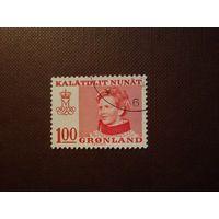 Гренландия  1977 г.Королева Маргрете II.
