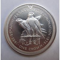 Мэн, крона, 1978, серебро