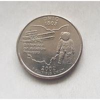 25 центов США 2002 г. штат Огайо Р