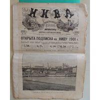 """Журнал """"Нива"""", номер 11, 1901 г. (очерк """"Могилев и его прошлое"""", литографии Могилева, Мстиславля, Чаусов, Орши)"""
