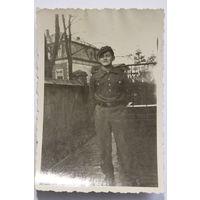 Фото военнослужащего Германии, размер 9*6 см.