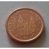 1 евроцент, Испания 2019 г., AU