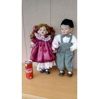 Шикарные фарфоровые куклы с клеймом и сертификатом.