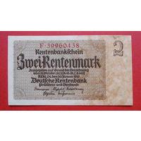 2 Рентенмарки -1937- * -Германия- *-UNC- идеальная-