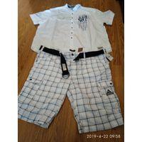 Комплект мужской одежды на солидного мужчину Шорты и Рубашка новый 60 размер.