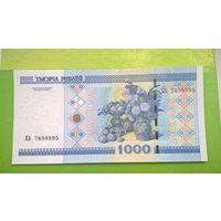 1000 рублей образца 2000 года. Серия КА