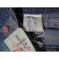 Комбинезон джинсовый для девочки, р.86 (реально от 10 мес. до 2-х лет!)