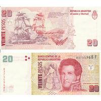 Аргентина 20 песо образца 2003-14 года UNC p355