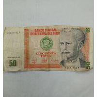 Банкнота 50 инти 1987 года - Перу