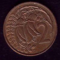 2 цента 1980 год Новая Зелландия