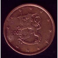 5 центов 2001 год Финляндия