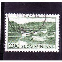 Финляндия.Ми-587.Ферма на берегу озера. Серия: Пейзажи. 1964.