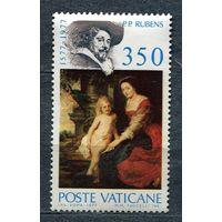 Живопись. Мадонна. Рубенс. Ватикан. 1977. Полная серия 1 марка. Чистая