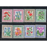 Франция Налоговые 1964-71 Полевые цветы Стандарт Полная #95-102**
