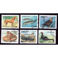 6 марок 1995 год Азербайджан Фауна и флора 269,271-275