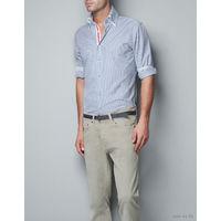 Zara мужская рубашка р-р XXL (маломерка лучше сядет на размер XL, воротник высокий)