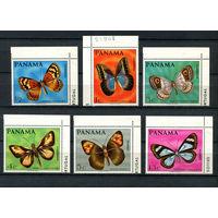 Панама - 1968 - Бабочки (у марки с номиналом 5с на клее есть пятно) - [Mi. 1056-1061] - полная серия - 6 марок. MNH.