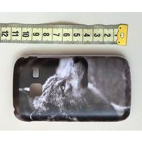 Бампер для  Смартфона Samsung S6102 Galaxy Y Duos. С принтом волк. Материал - пластик.