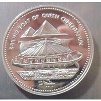Египет 5 фунтов 1994. Редкая. Серебро (396)