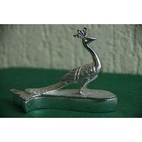 Шкатулка Павлин  (металл  , высота 10,5 см , ширина 14 см )