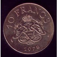 10 Франков 1978 год Монако