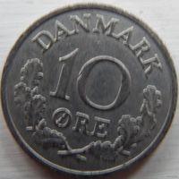 Дания 10 оре 1965 год