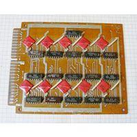 Плата 745-1414-01 с микросхемами серии К155