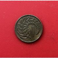 59-07 Новая Зеландия, 1 цент 1975 г. Единственное предложение монеты данного года на АУ