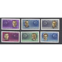 Космос. Советские космонавты. Албания. 1963. 6 марок б/з  (полная серия). Michel N 757-762 (45,0 е)