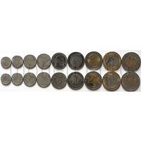 Алжир 9 монет 1992-2015 годов. Животные