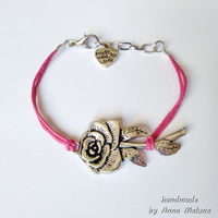 Браслет мини Роза (розовый)
