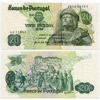 Португалия. 20 эскудо (образца 1971 года, P173, подпись 3, aUNC)