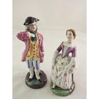 Пара фарфоровых статуэток. Дама с кавалером. Чехословакия 1830-1860 гг.