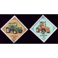 2 марки 1982 год Монголия Тракторы 1499-1500