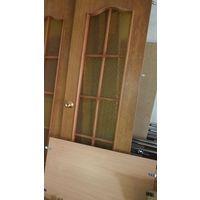 Дверь  со стеклами б/у 200*60 - половинка от двойной