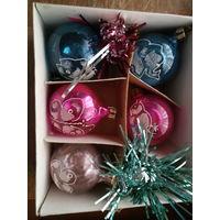 Набор ёлочных шаров советского дизайна