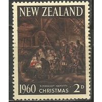 Новая Зеландия. Рождество. 1960г. Mi#415.