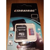 Micro SD Card ESHAKHARE - 32 Gb (10 класс, новая, пр-во Тайвань)