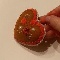 """Игольница """"Сердечко (шоколад)"""""""