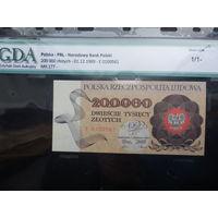 Польша 1989 200000 злотых -- в слабе GDA 63 Unc
