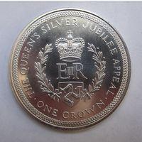 Мэн, крона, 1977, серебро