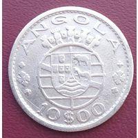 Ангола 10 эскудо 1952, серебро