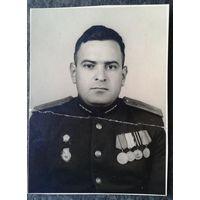 Фото военного с наградами. 4.5х6 см