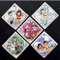 Монголия 1983 г. 10-летие Детского Фонда, 5 марок. Чистые #0080-Ч1P5